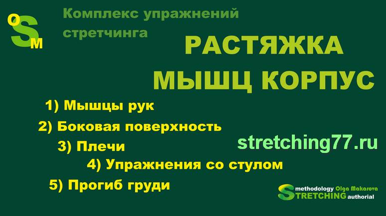 Комплекс упражнений стретчинга